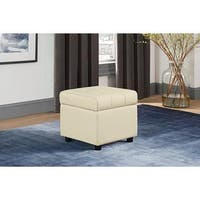 DHP Emily Faux Leather Square Storage Ottoman