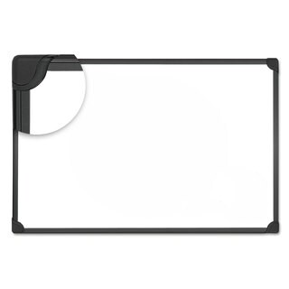 Universal One Design Series Magnetic Steel Dry Erase Board 36 x 24 White Black Frame