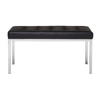 Offex Lintel Entryway Bonded Leather Bench