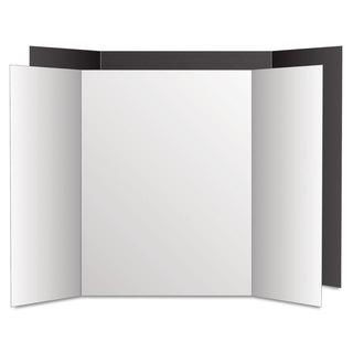 Eco Brites Too Cool Tri-Fold Poster Board 36 x 48 Black/White 6/Pack