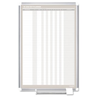 MasterVision In-Out Magnetic Dry Erase Board 24x36 Silver Frame