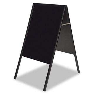 MasterVision Magnetic Wet Erase Board 27x34 Black Black Wood Frame
