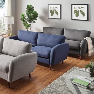 Katryn Linen Fabric Sofa by MID-CENTURY LIVING