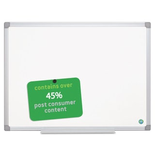 MasterVision Earth Gold ULettera Magnetic Dry Erase Boards 36 x 48 White Aluminum Frame