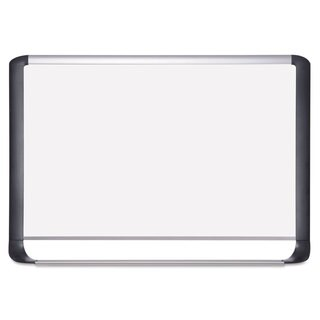 MasterVision Lacquered steel magnetic dry erase board 36 x 48 Silver/Black