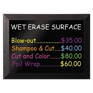 MasterVision Kamashi Wet-Erase Board 48 x 36 Black Frame