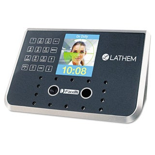 Lathem Time Face Recognition Time Clock System. 500 Employees Grey 7-1/4 x 3-1/2 x 5-1/4
