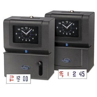 Lathem Time Heavy-Duty Time Clock Mechanical Charcoal