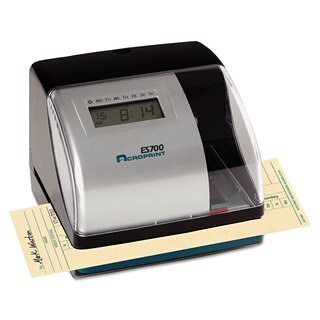 Acroprint ES700 Digital AutomaticTime Recorder Silver and Black