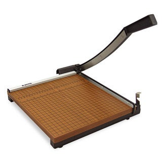 "X-ACTO Square Commercial Grade Wood Base Guillotine Trimmer, 10 Sheets, 12"" x 12"""