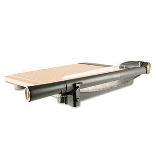 Westcott TrimAir Titanium Guillotine Paper Trimmer, Wood Base, 15"