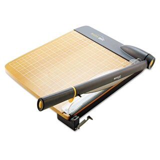 Westcott TrimAir Titanium Guillotine Paper Trimmer, Wood Base, 12""