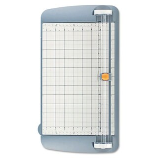 "Westcott TrimAir Titanium Rotary Paper Trimmer, Wide Base, 12"", Grey"