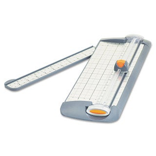 "Westcott TrimAir Titanium Rotary Paper Trimmer, Narrow Base, 12"", Grey"