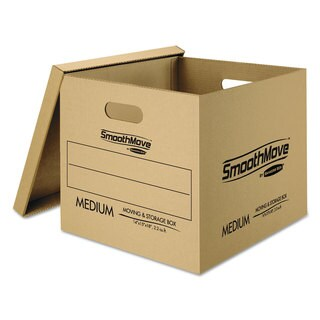 Bankers Box SmoothMove Classic Moving Boxes 8-SM 15l x 12-inch wide x 10h 4-MED 18-inch long x 15-inch wide x 14-inch high
