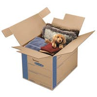 Bankers Box SmoothMove Prime Large Moving Boxes 24-inch long x 18-inch wide x 18-inch high Kraft/Blue 6/Carton