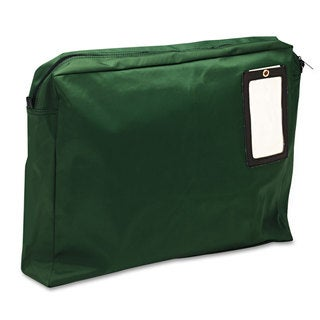 MMF Industries Expandable Dark Green Transit Sack 18-inch wide x 14-inch high x 4-inch deep