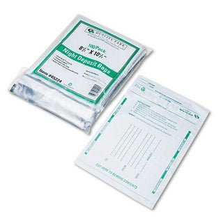 Quality Park Poly Night Deposit Bags with Tear-Off Receipt 8.5 x 10-1/2 Opaque 100 Bags/Pack