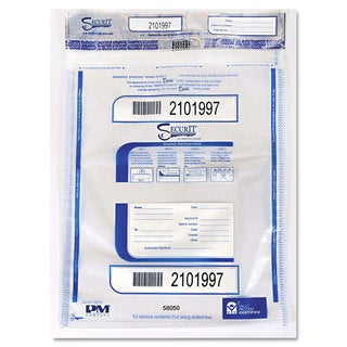 PM Company Securit Triple Protection Tamper-Evident Deposit Bags 15 x 20 Clear 50/Pack