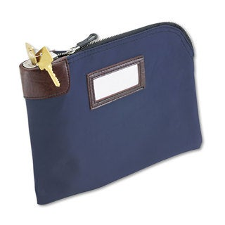 MMF Industries Seven-Pin Security/Night Deposit Bag Two Keys Nylon 11 x 8 1/2 Navy
