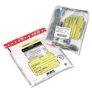 MMF Industries Tamper-Evident Deposit/Cash Bags Plastic 12 x 16 Clear 100 Bags/Box