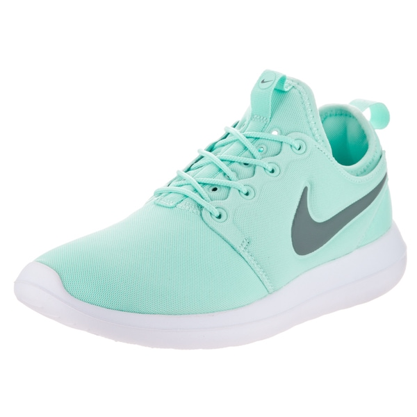newest 5cbed e3e69 Nike Women  x27 s Roshe Two Light Blue Textile Running Shoes