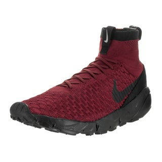 Nike Men's Air Footscape Magista Flyknit FC Red Indoor Soccer Shoe
