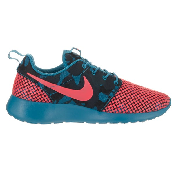 Shop Nike Men's Roshe One Premium Plus Blue Textile Running