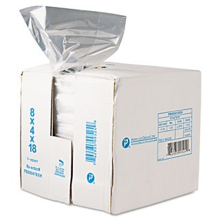 Inteplast Group Get Reddi Food & Poly Bag 8 x 4 x 18 8-Quart 0.68 Mil Clear 1000/Carton