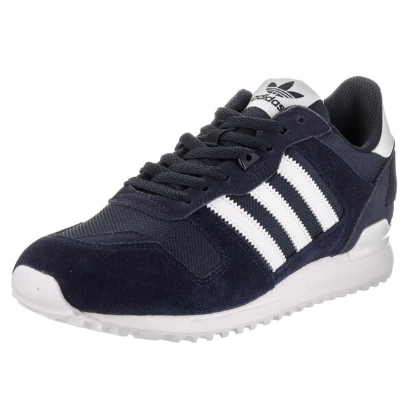 29a0a5eaee6c Shop Adidas Men s ZX 700 Originals Blue Suede Running Shoes - Free ...