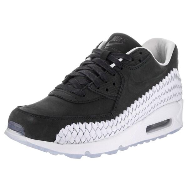 Shop Nike Men's Air Max 90 Black Woven Casual Shoes - Free ...
