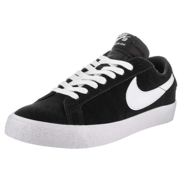 new product abc0d 3cbe9 Shop Nike Men's SB Blazer Zoom Low Black Suede Skate Shoes ...