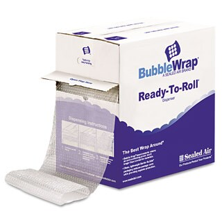 Sealed Air Packing Wrap Cushion Bubble Roll 1/2 inches Thick 12 inches x 65ft