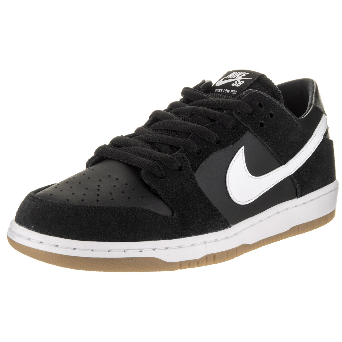Nike Men's Black SB Zoom Dunk Low Pro Skate Shoes (13) (l...