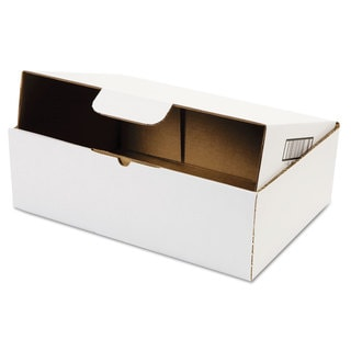 Duck Self-Locking Shipping Boxes 13l x 9-inch wide x 4h White 25/Pack