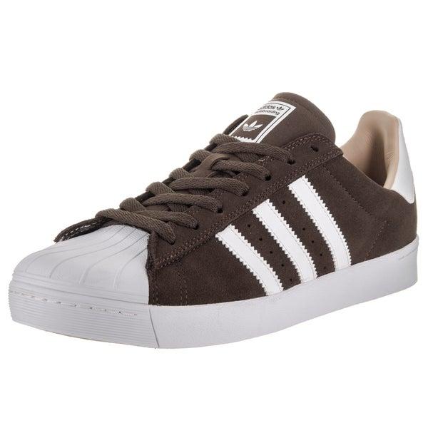 9fc0a5c31812 Shop Adidas Men s Superstar Vulc Adv Brown Suede Skate Shoes - Free ...