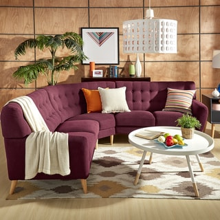 Niels Danish Modern Tufted Fabric 5-seat L-Shaped Sectional by MID-CENTURY LIVING