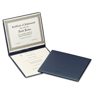 Oxford Diploma Cover 12 1/2 x 10 1/2 Navy|https://ak1.ostkcdn.com/images/products/14004600/P20626988.jpg?impolicy=medium