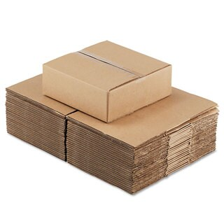General Supply Brown Corrugated - Fixed-Depth Shipping Boxes 12-inch long x 12-inch wide x 4-inch high 25/Bundle