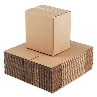 General Supply Brown Corrugated- Fixed-Depth Shipping Boxes 11 1/4-inch long x 8 3/4-inch wide x 12-inch high 25/Bundle