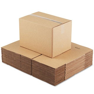 General Supply Brown Corrugated - Fixed-Depth Shipping Boxes 18-inch long x 12-inch wide x 12-inch high 25/Bundle