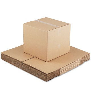 General Supply Brown Corrugated- Fixed-Depth Shipping Boxes 18-inch long x 18-inch wide x 16-inch high 15/Bundle