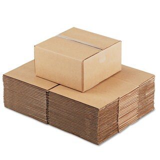General Supply Brown Corrugated - Fixed-Depth Shipping Boxes 12-inch long x 12-inch wide x 6-inch high 25/Bundle