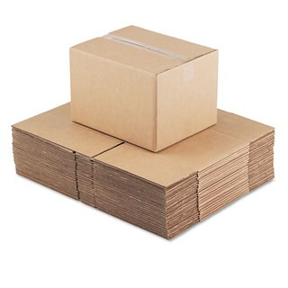 General Supply Brown Corrugated - Fixed-Depth Shipping Boxes 15-inch long x 12-inch wide x 10-inch high 25/Bundle