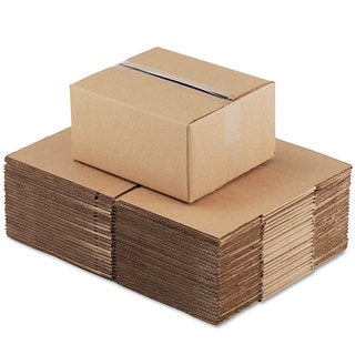 General Supply Brown Corrugated- Fixed-Depth Shipping Boxes 12-inch long x 10-inch wide x 6-inch high 25/Bundle