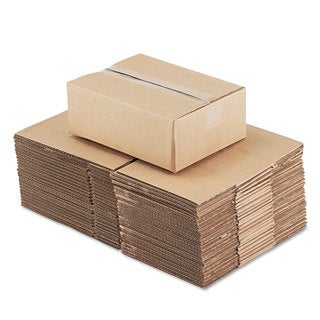 General Supply Brown Corrugated - Fixed-Depth Shipping Boxes 12-inch long x 9-inch wide x 4-inch high 25/Bundle