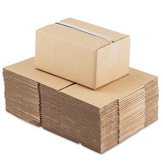 General Supply Brown Corrugated - Fixed-Depth Shipping Boxes 12-inch long x 8-inch wide x 6-inch high 25/Bundle