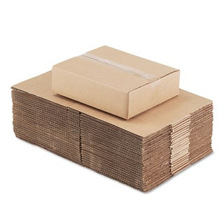 General Supply Brown Corrugated - Fixed-Depth Shipping Boxes 12-inch long x 10-inch wide x 3-inch high 25/Bundle