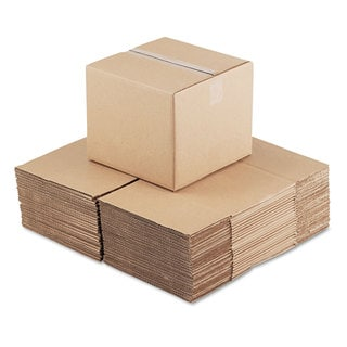 General Supply Brown Corrugated- Fixed-Depth Shipping Boxes 12-inch long x 12-inch wide x 10-inch high 25/Bundle