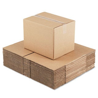 General Supply Brown Corrugated - Fixed-Depth Shipping Boxes 16-inch long x 12-inch wide x 12-inch high 25/Bundle